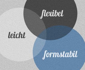 Leicht, flexibel, formstabil